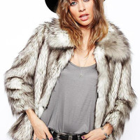 Wild Lapel Fur Coat