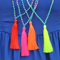 Rubenabird Handmade Tassel Necklaces - Multiple Colors