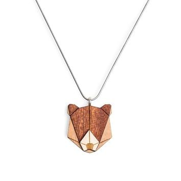 Wooden Bear Necklace