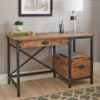 Better Homes and Gardens Rustic Country Desk, Weathered Pine Finish - Walmart.com