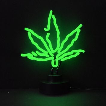 Pot Leaf Neon Sculpture