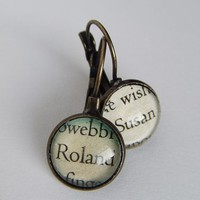 The Dark Tower 'Roland and Susan' Antique Bronze Earrings