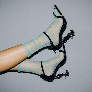 Diamond Sheer Sock | Teal