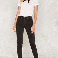 Levi's Wedgie Icon Button-Fly Jeans - Midnight Rain