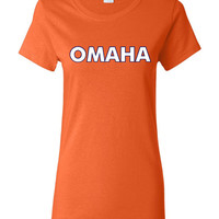 Awesome Peyton Manning OMAHA Football T Shirt Great Football Fans Fantasy football Shirt Ladies & Unisex Styles School Colors Available