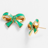 kate spade new york 'finishing touch' bow stud earrings
