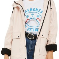 Topshop Hooded Raincoat | Nordstrom