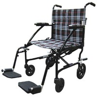 Drive Medical (A) Fly-Lite Transport Chair Black  19