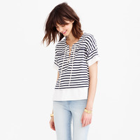 SWINGY LACE-UP SAILOR TEE