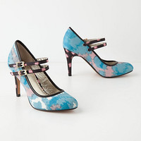 Painted Ikat Mary-Janes