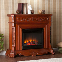 Southern Enterprises FE9671 Hartley  Classic Mahogany Electric Fireplace