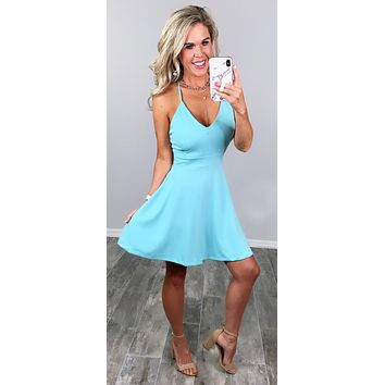 Life Is Great Lace Back Dress - Mint