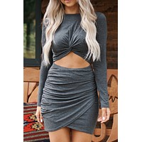 Rule The Night Dress (Charcoal)