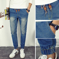 Mens Cool Thigh Fade Jeans