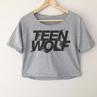 Teen Wolf Logo Series Women Top Wide Crop T-shirt Fashion