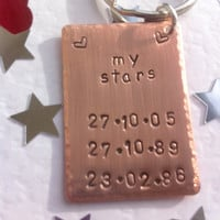 Custom Date keyring | Daddy's keys | Mummy keyring | Gift for dad | Gift for mum | Grandparents gifts | Personalised dad gift | Key chain