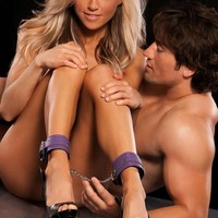 Allure Lingerie Female X-Play Purple Ankle Cuffs With Chain 2071