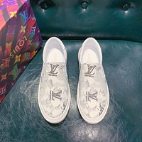 lv fashion men womens casual running sport shoes sneakers slipper sandals high heels shoes 45