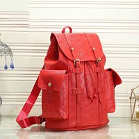 Louis Vuitton LV new large-capacity backpack Men's and women's fashion shoulder bag Backpack