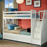 Marietta Twin over Twin Stairway Bunk Bed