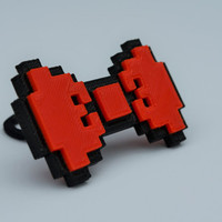 8-Bit Hair Tie For Girls 3D Printed Dual Colors Retro Arcade Nerd Geek Cute Accessory Eco Friendly Biodegradable Minecraft Bow Tie Ties3d