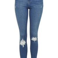 MOTO Authentic Ripped Jamie Jeans - Blue