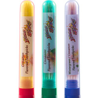 3 Flavored Toothpick Cinnamon Sampler Pack Small Tubes