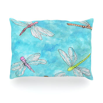 """Rosie Brown """"Dragonfly"""" Oblong Pillow"""