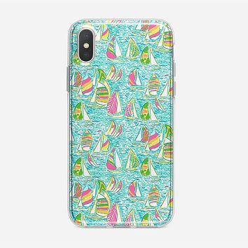 Lilly Pulitzer Sailboat iPhone XS Max Case