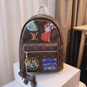Louis Vuitton LV two-piece casual trendy backpack bag