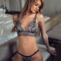 Hot Deal Cute On Sale Lace Bra Sexy Hollow Out Set Exotic Lingerie [9357322244]
