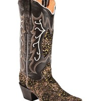 Tanner Mark Lace Overlay Cowgirl Boots - Pointed Toe - Sheplers