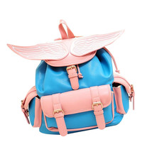PU Backpack with Wing Design