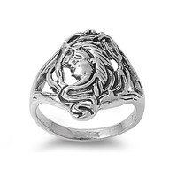 925 Sterling Silver Wiccan Mother Goddess Ring