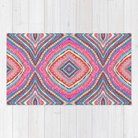Bright Gypsy Bohemian Abstract Pattern Rug by TigaTiga Artworks | Society6
