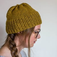 Knit Hat, Gift for Her, Simple Hat, Wool hat,  Gift for Mom, Beanie, Winter Hat, Fisherman Hat