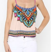 Roof Top Party Tank Top - Cream