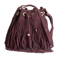 Suede Bag - from H&M