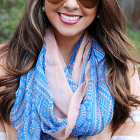 Back To You Scarf: Blue/Peach