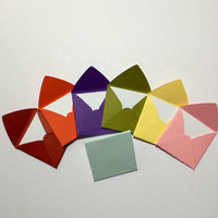 """Mini square envelopes with notecards 1x1"""""""