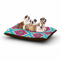 "Sarah Oelerich ""Colorful Diamonds"" Pink Blue Dog Bed"