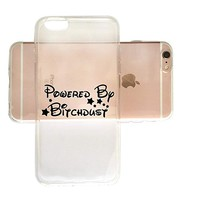Powered By Bitchdust Clear Transparent Plastic Phone Case for iphone Apple Phone SUPERTRAMPshop (iphone 6)