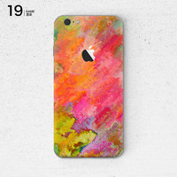 Rainbow Colors Graffiti Painting Soft Silicon Phone Cover Case for Apple iPhone 6 6s