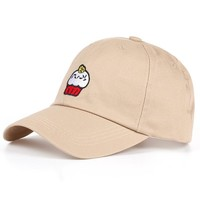 VORON Cotton Cartoon Cakes Embroidery Adjustable Baseball Cap Boys Girls DAD Hat Snapback Cap for Men and Women