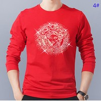 Versace Autumn And Winter Fashion New Human Head Print Women Men Long Sleeve Top Sweater 4#