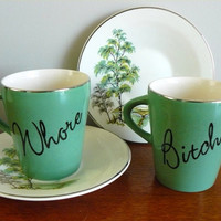 Whore Bitch tea or espresso set