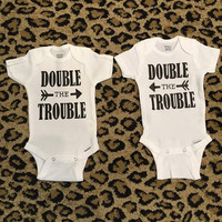 DOUBLE TROUBLE baby Onesuit