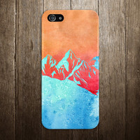 Snowcapped Mountains x Watercolor Sunset Phone Case for iPhone 6 6 Plus iPhone 5 5s 5c 4 4s Samsung Galaxy s6 s5 s4 & s3 and Note 5 4 3 2