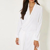 MLM Surplice Wrap-Front Dress