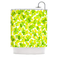 "Ebi Emporium ""Giraffe Spots - Lemon Lime"" Shower Curtain, 69"" x 70"" - Outlet Item"